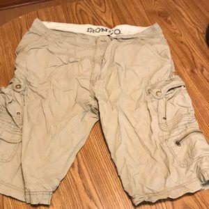 Men's khaki shorts.